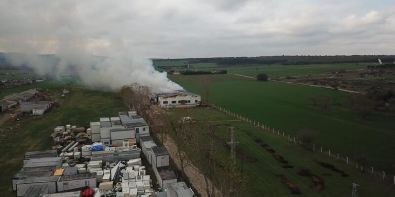 Son dakika... Çatalca'da fabrika yangını
