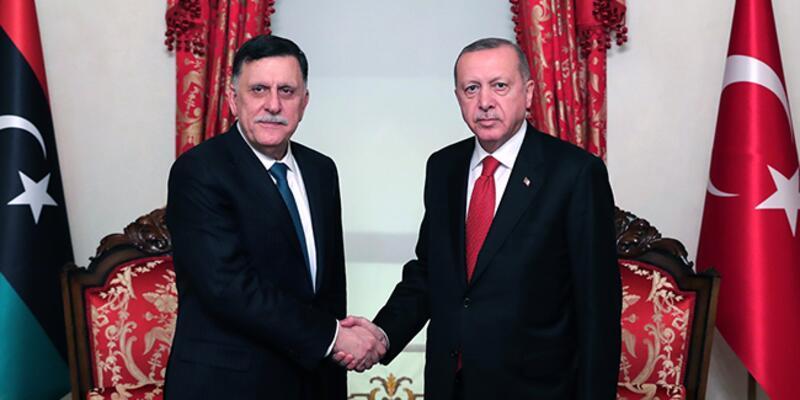 Cumhurbaşkanı Erdoğan, Fayez Al Sarraj'ı kabul etti