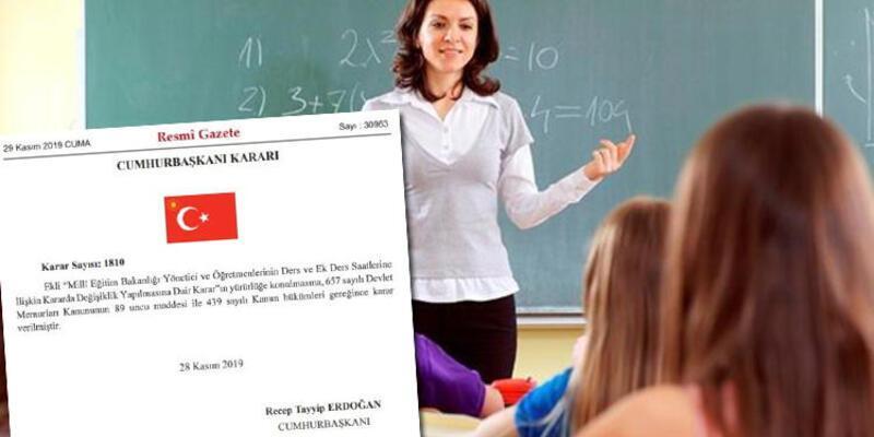 Son dakika: Öğretmenlere ek ders ücreti müjdesi! Resmi Gazete'de...