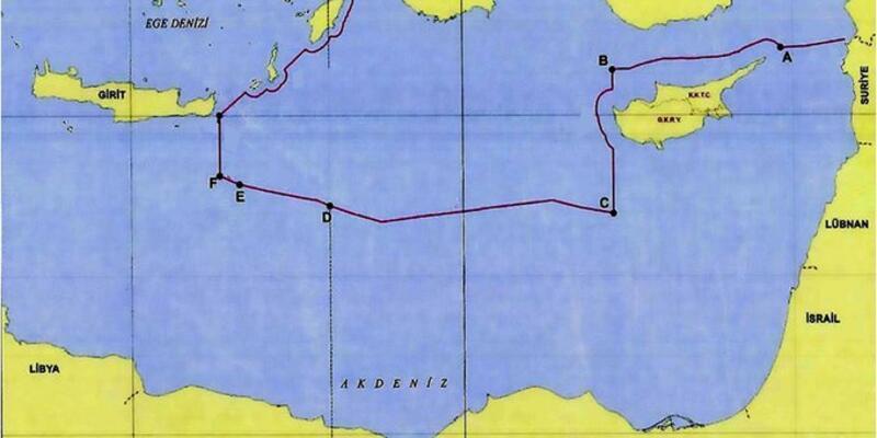 Dışişleri Bakanlığı paylaştı! İşte Türkiye'nin Doğu Akdeniz'deki kıta sahanlığı ve MEB sınırları