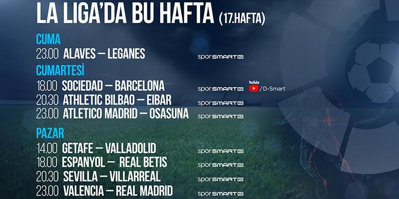 La Liga 17. haftada 8 maç naklen D-Smart ve D-Smart GO'da!