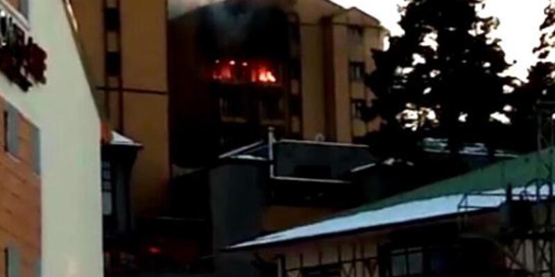 Son dakika... Sarıkamış'ta kayak merkezindeki otelde yangın