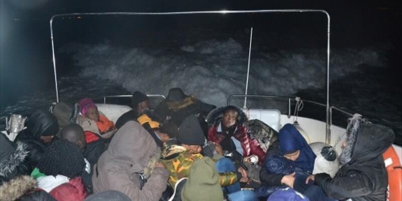65 göçmen Yunanistan yolunda yakalandı