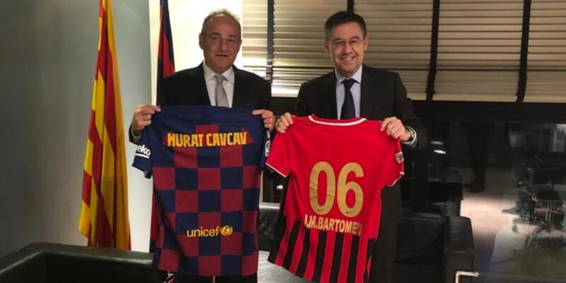 Gençlerbirliği Kulübü'nden Barcelona'ya ziyaret