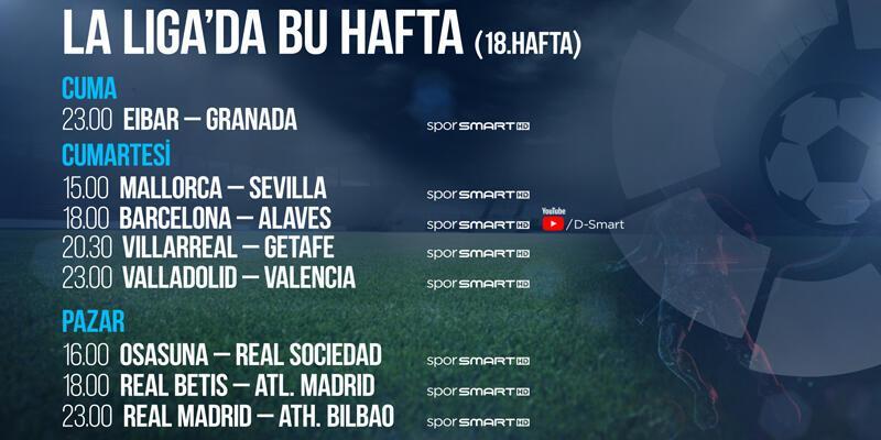 La Liga 18. haftada 8 maç naklen D-Smart ve D-Smart GO'da!