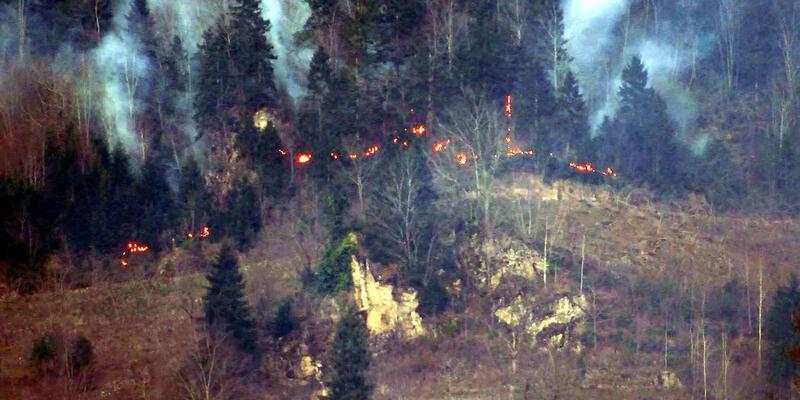 Rüzgar ve fırtına 22 farklı noktada yangına neden oldu