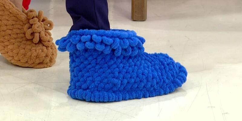İlmekleme yöntemiyle ev ayakkabısı yapımı