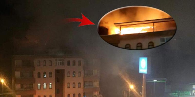 Gece saatlerinde 5 katlı binada yangın!