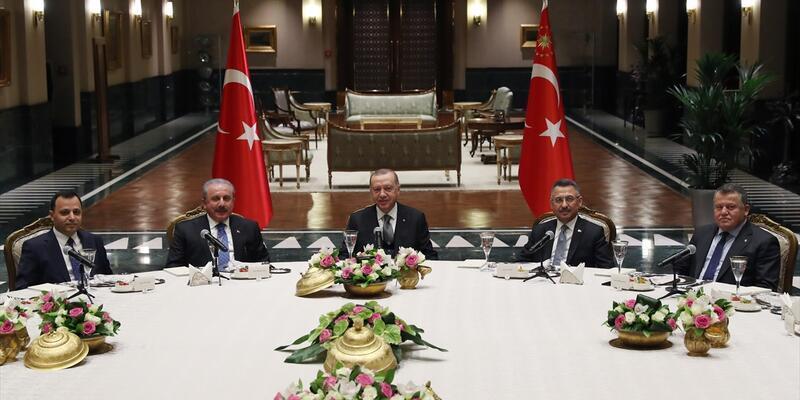 Cumhurbaşkanı Erdoğan, yasama, yürütme ve yargı organlarının temsilcileriyle buluştu
