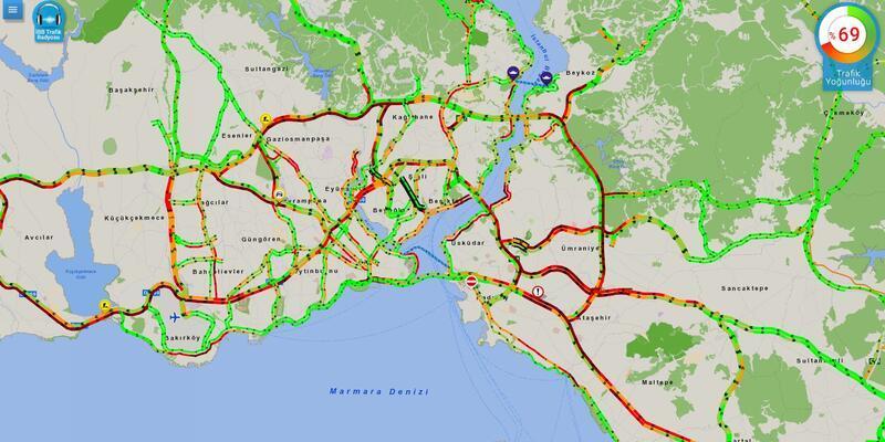 Yağış İstanbul trafiğini olumsuz etkiledi! İşte son durum