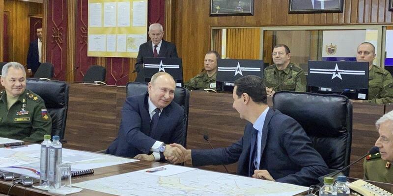 Vladimir Putin, Beşar Esad ile görüştü