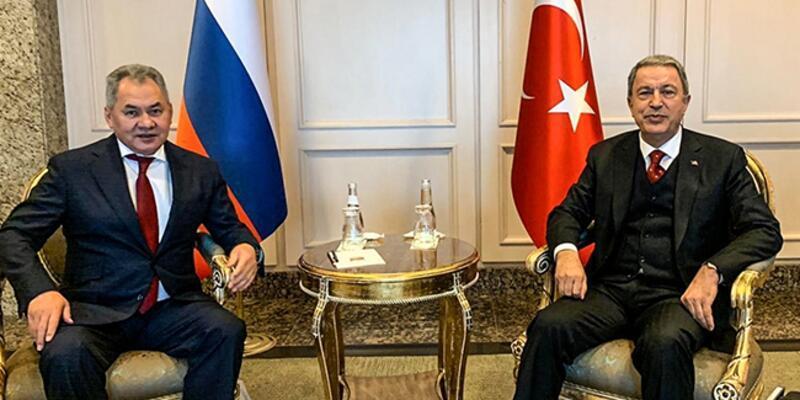 Bakanı Akar, Rusya Savunma Bakanı Şoygu ile görüştü