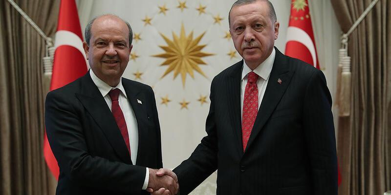 Cumhurbaşkanı Erdoğan ile KKTC Başbakanı Tatar görüştü