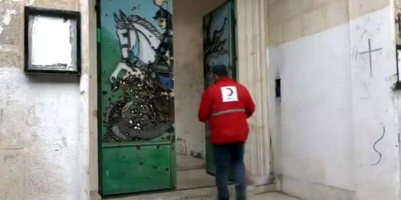 MSB: Resulayn'da kiliseye insani yardım yapıldı