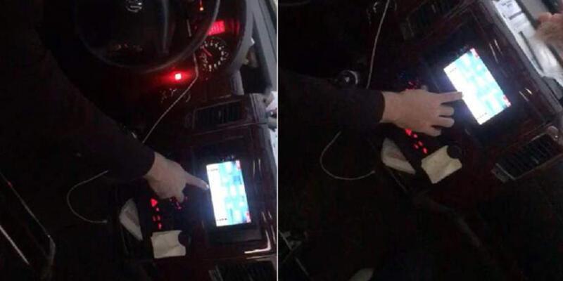 Minibüs kullanırken okey oynayan sürücünün ehliyetine el konuldu