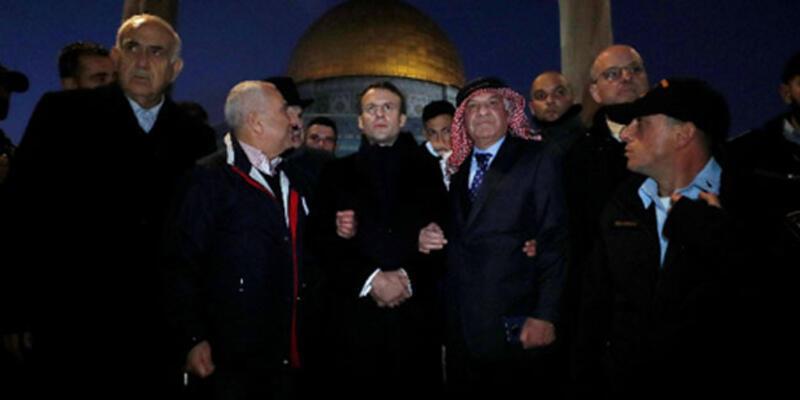 Fransa Cumhurbaşkanı Macron, İsrail polisi ile tartıştı