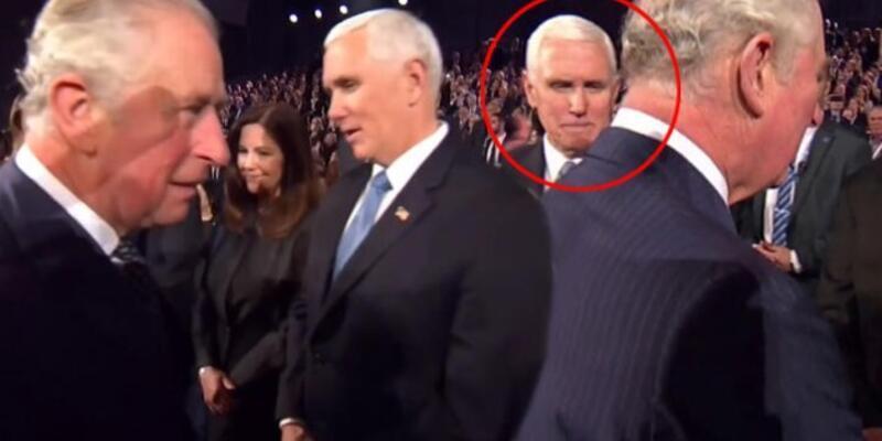 Prens Charles, Mike Pence'in elini sıkmadı