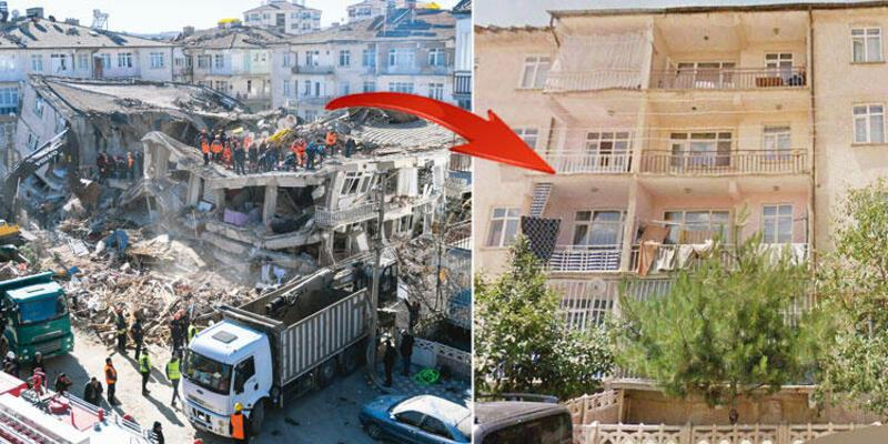 Depremin ardından her şeyi anlatan fotoğraf: Apartman kum tepesine döndü