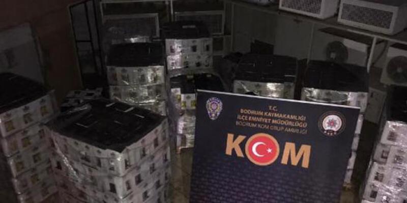 Bodrum'da 7 bin şişe sahte içki ele geçirildi
