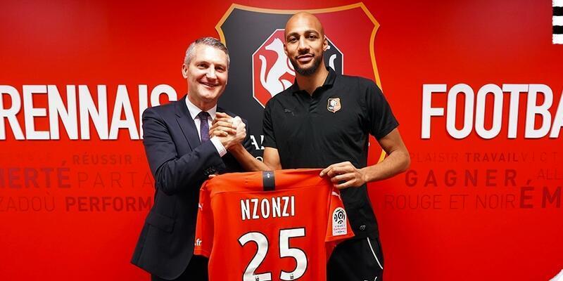 Steven Nzonzi Rennes'e imza attı