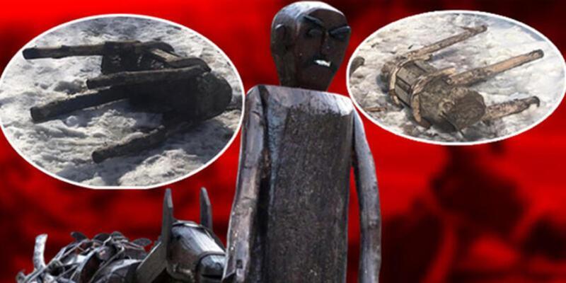 Ankara'da bir garip olay: 'Put' dediler 30 heykeli yıktılar!