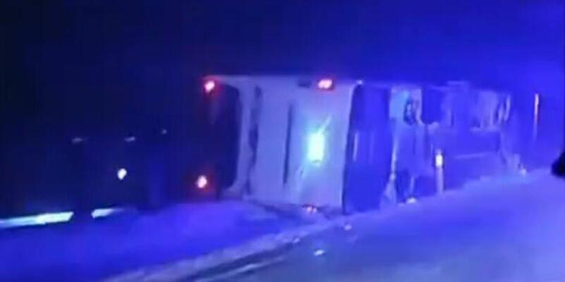 Nevşehir'de yolcu otobüsü devrildi! Yaralılar var