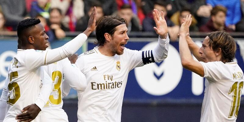 Real Madrid'den Osasuna'ya 4 gol