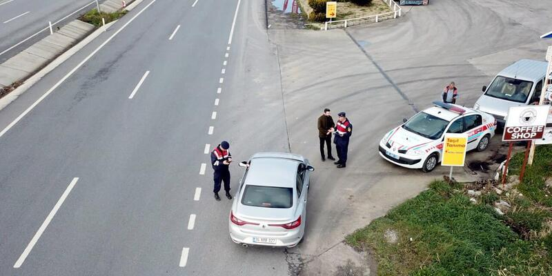 Drone'lu denetimde sürücülere ceza kesildi