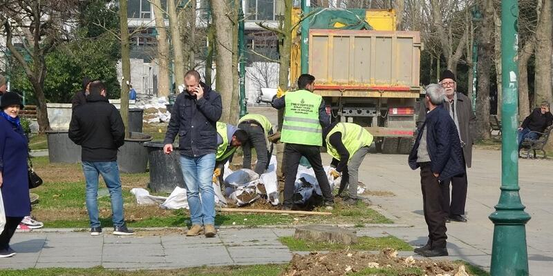 Gezi Parkı'na 150 ağaç dikiliyor