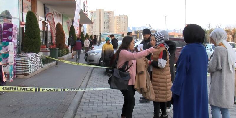 Züccaciye dükkanı önünde silahlı saldırı