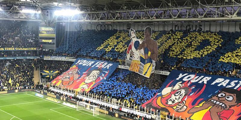 Fenerbahçe'den Galatasaray'a koreografili gönderme!