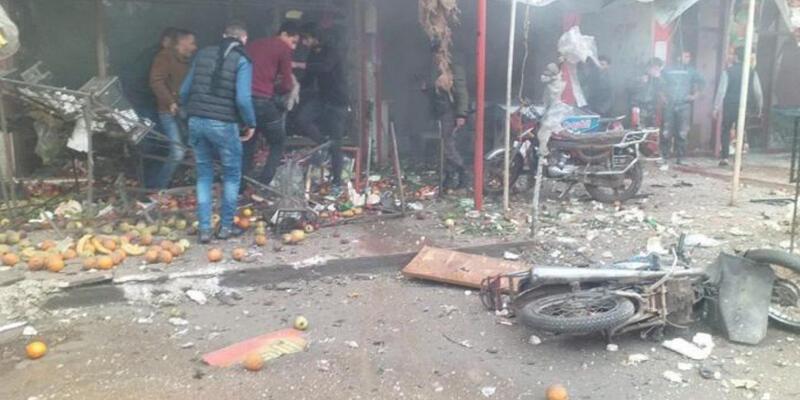 Tel Rıfat'ta yuvalanan YPG/PKK'lı teröristler Afrin'e saldırdı