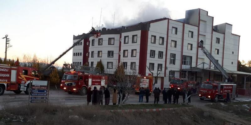 Kuru yemiş fabrikasında yangın çıktı