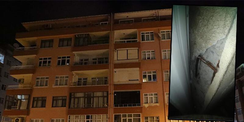 Yıkılma  riski taşıyan 11 katlı bina tahliye edildi