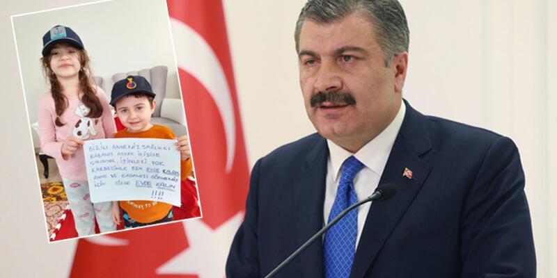 Sağlık Bakanı Koca'dan çok özel 'Evde Kal' paylaşımı