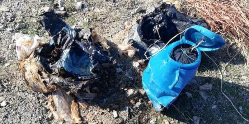 Köy yoluna tuzaklanmış 60 kilo EYP bulundu