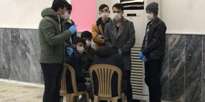 Afgan kaçak ve 2 Türk şoför karantinaya alındı