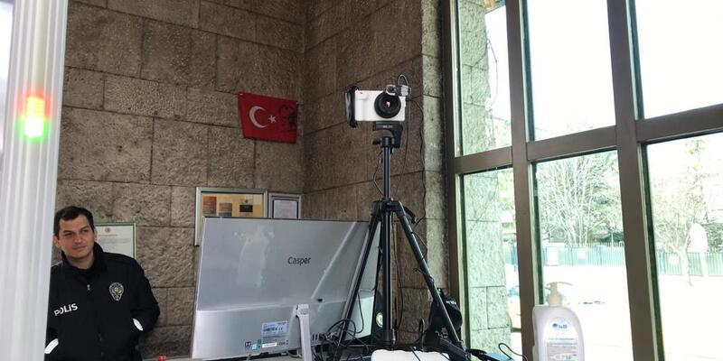 TBMM'de koronavirüse karşı termal kamera uygulamasına başlandı