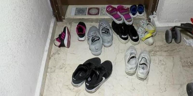Eve giremeyen hırsızlar ayakkabılara dadandı