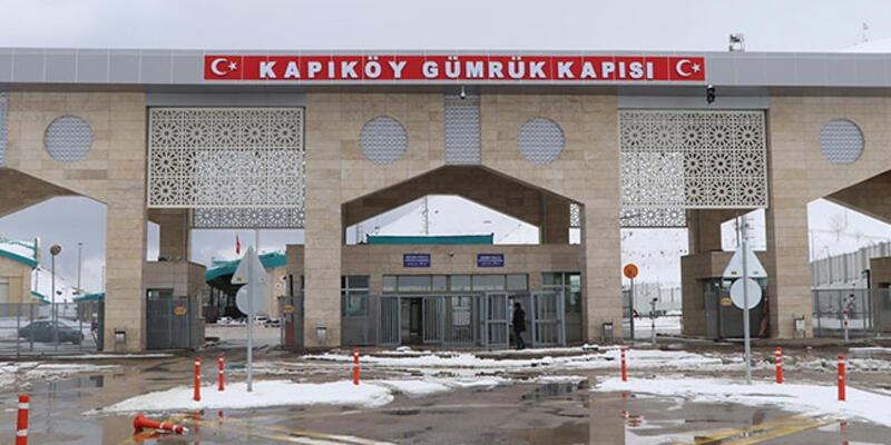 Kapıköy Kara Hudut Kapısı'nda giriş çıkışlar durduruldu