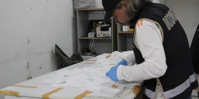 Merdiven altı maske üreticilerine operasyon
