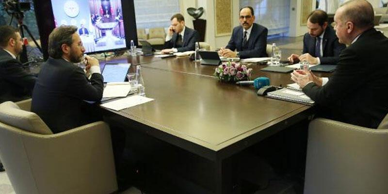 Cumhurbaşkanı Erdoğan, Bilim Kurulu Toplantısı'na video konferansla katıldı
