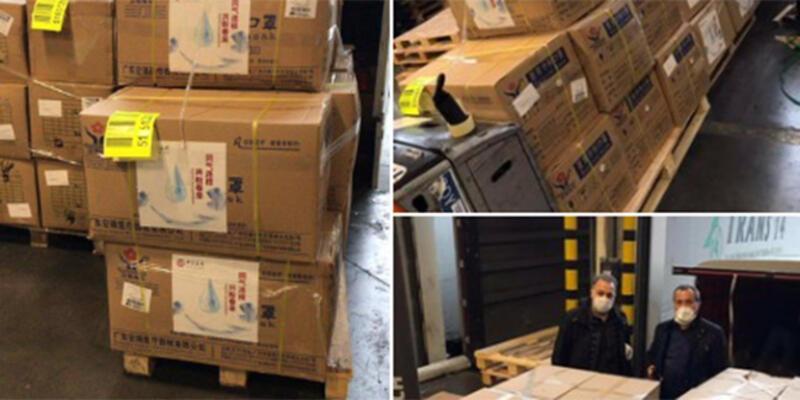 Çin, 44 kolilik medikal malzemeyi kargo uçağıyla İstanbul'a getirdi