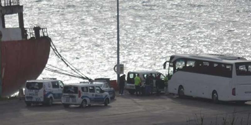 Haydarpaşa'da gemideki TIR şoförleri karantina yurduna alındı