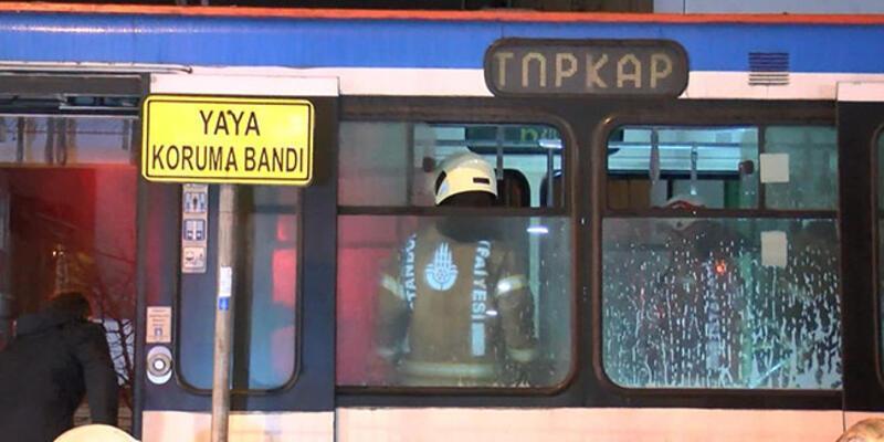 Tramvayda yangın paniği