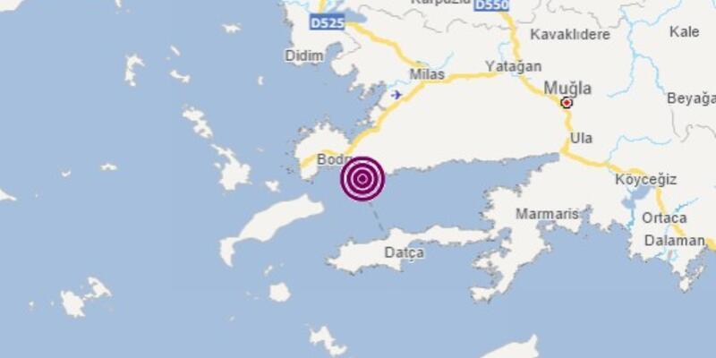 Son dakika... Muğla Bodrum'da 3,2 büyüklüğünde deprem
