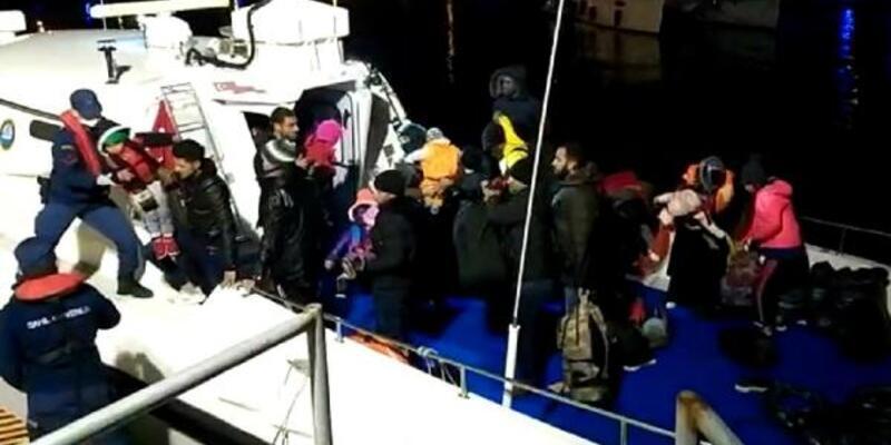 Yunan adalarına geçmeye çalışan 50 göçmen yakalandı