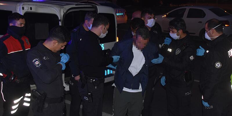 Ambulansı kaçıran şüpheli kovalamacayla yakalandı