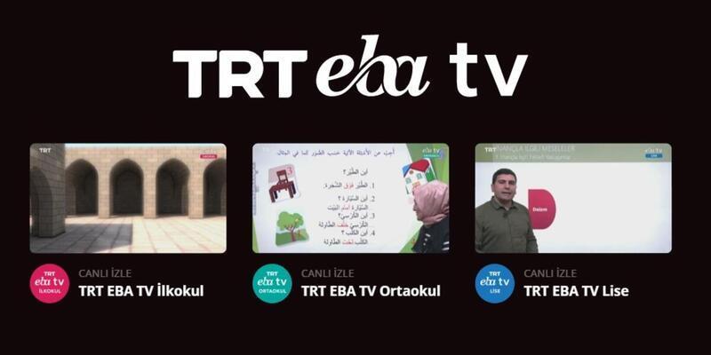EBA TV ders programı 6 Nisan Pazartesi EBA TV canlı yayın sayfası