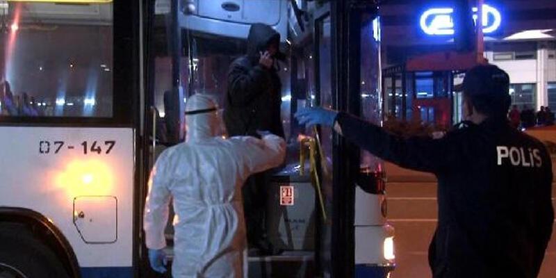 EGO otobüsünde 'koronavirüs' şüphesi